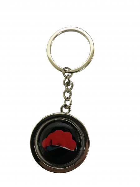 "Metal keyring ""Black Forest 10cm, double-sided"""