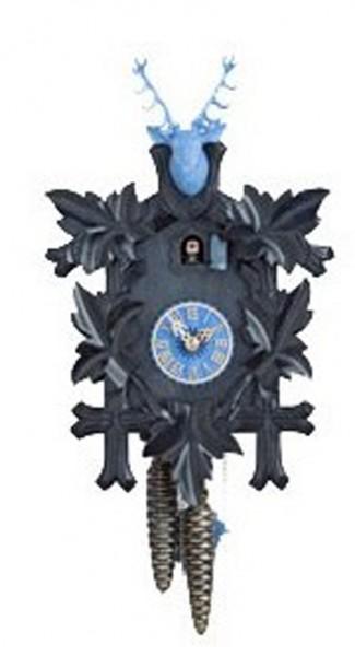 Kuckucksuhr 8 Tage, schwarz/blau, 38 cm