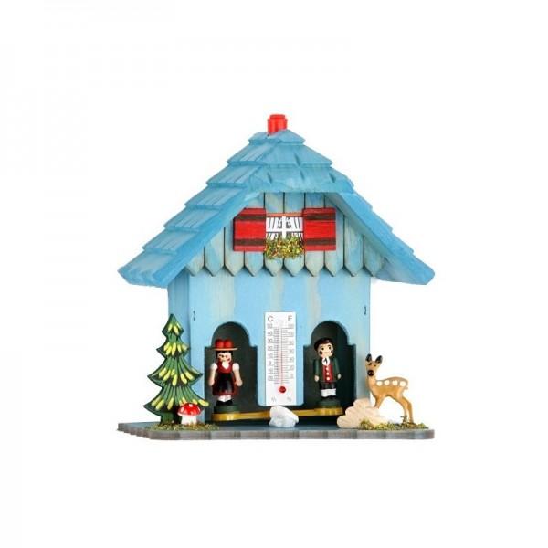 Wetterhaus mit Dachschindeln in blau