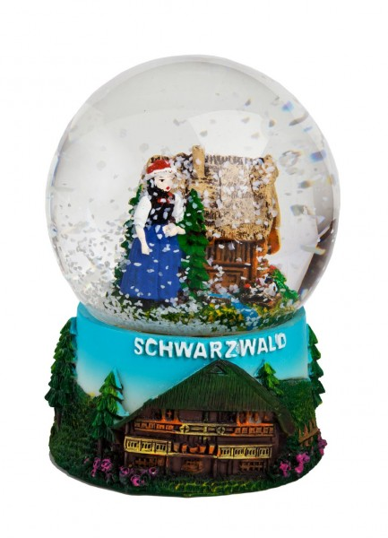 Snow Globe Black Forest House, 9cm