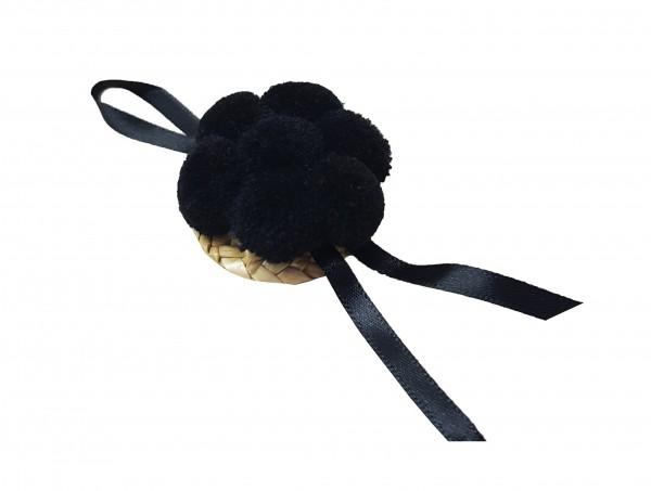 Bollenhut Dekoration schwarz