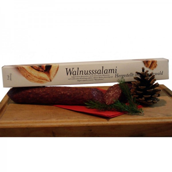 Walnut noble salami, in one piece, approx. 380g