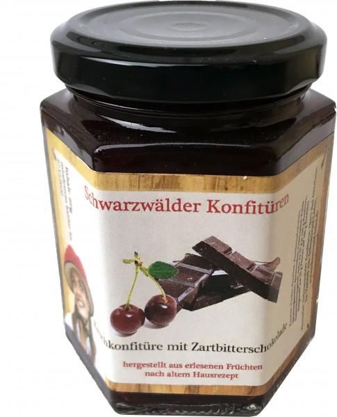 Kirschkonfitüre mit Zartbitterschokolade, 225gr