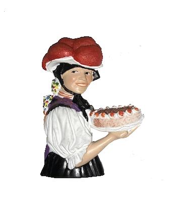 Magnet Schwarzwälderin mit Torte