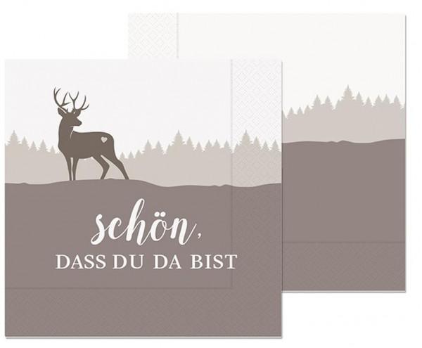 """Servietten 33x33cm - """"Schön dass es Dich gibt"""""""