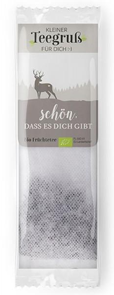 """Teegruß mit Hirsch - """"Schön, dass es Dich gibt"""""""
