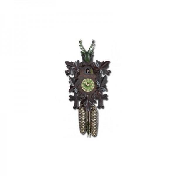 Cuckoo Clock 8 days, black / green, 38 cm