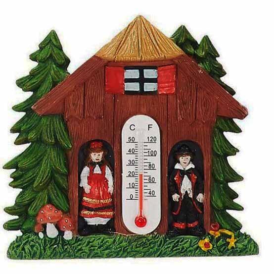 Magnet Schwarzwaldhaus mit Thermometer