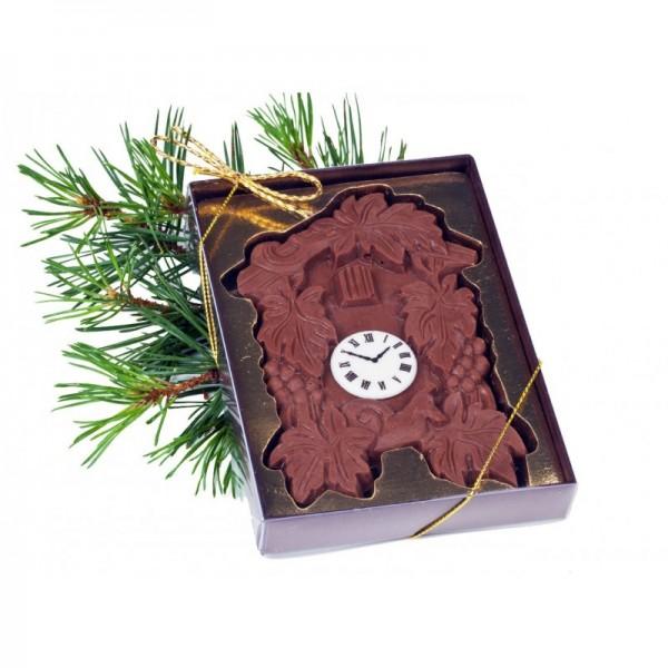 Kuckucksuhr aus Vollmilchschokolade, 80gr