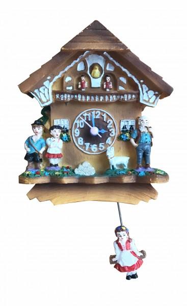 Magnet Uhr mit Quarzwerk Heidi mit Heidipendel
