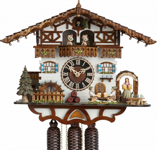 "Cuckoo Clock ""Zenzi"", 8 days, Music & Dancer, 36 cm"