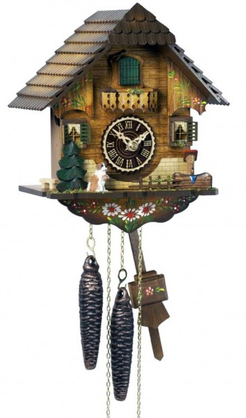 Cuckoo clock bright with deer