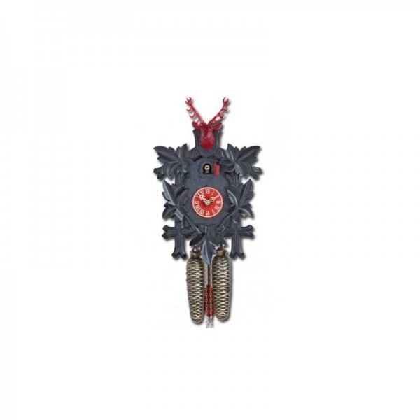 Cuckoo Clock 8 days, black / red, 38 cm