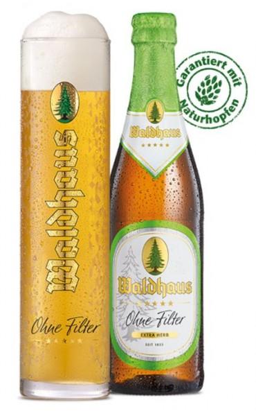 Waldhaus Ohne Filter EXTRA HERB, 0,33l, 24 Flaschen